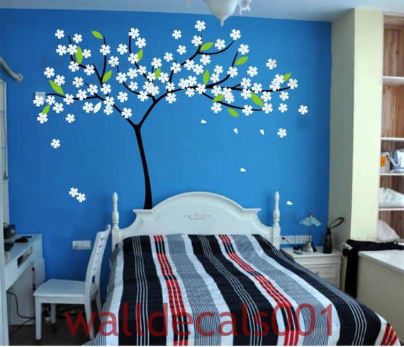 Vinyl Wall Decal Wall Sticker Tree Decal cherry blossom Decal  room decor- lovely blossom tree