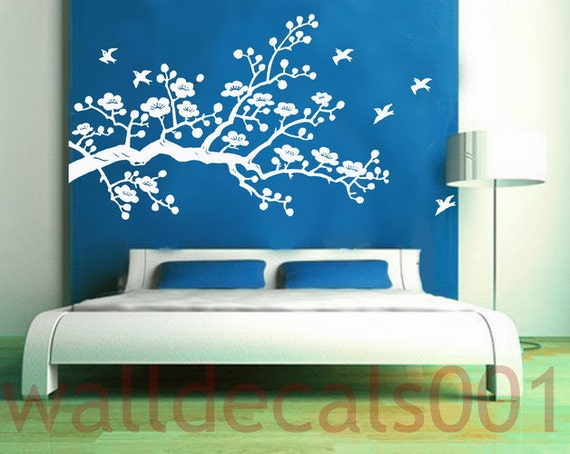Cherry Blossom-Vinyl wall decal wall sticker flower decal tree decal room decor