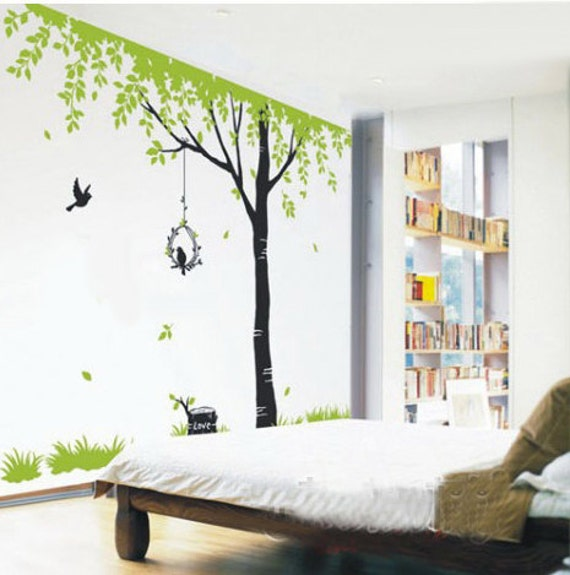 Tree Wall Art tree wall decals kids wall art nature wall stickers wall decor