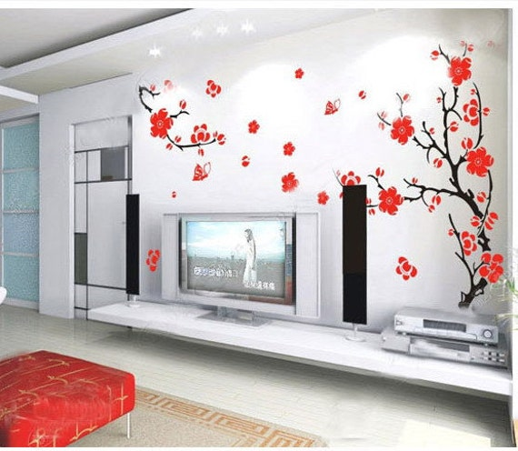 Cherry Blossom-Cherry blossom decal tree decal   flower decal baby decal  Nature room decor wall art