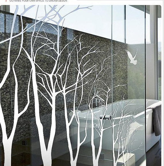 Tree Wall Decals Wall Stickers tree decals murals -7 winter trees