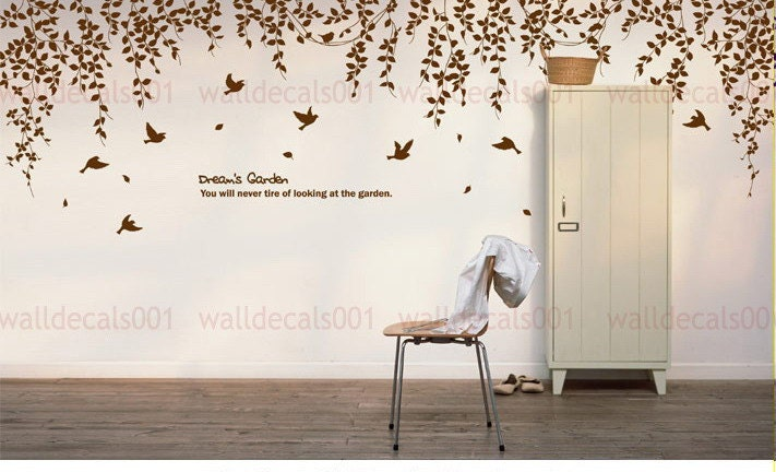 Wall Decal Art wall decal wall sticker room decor nature tree decal birds