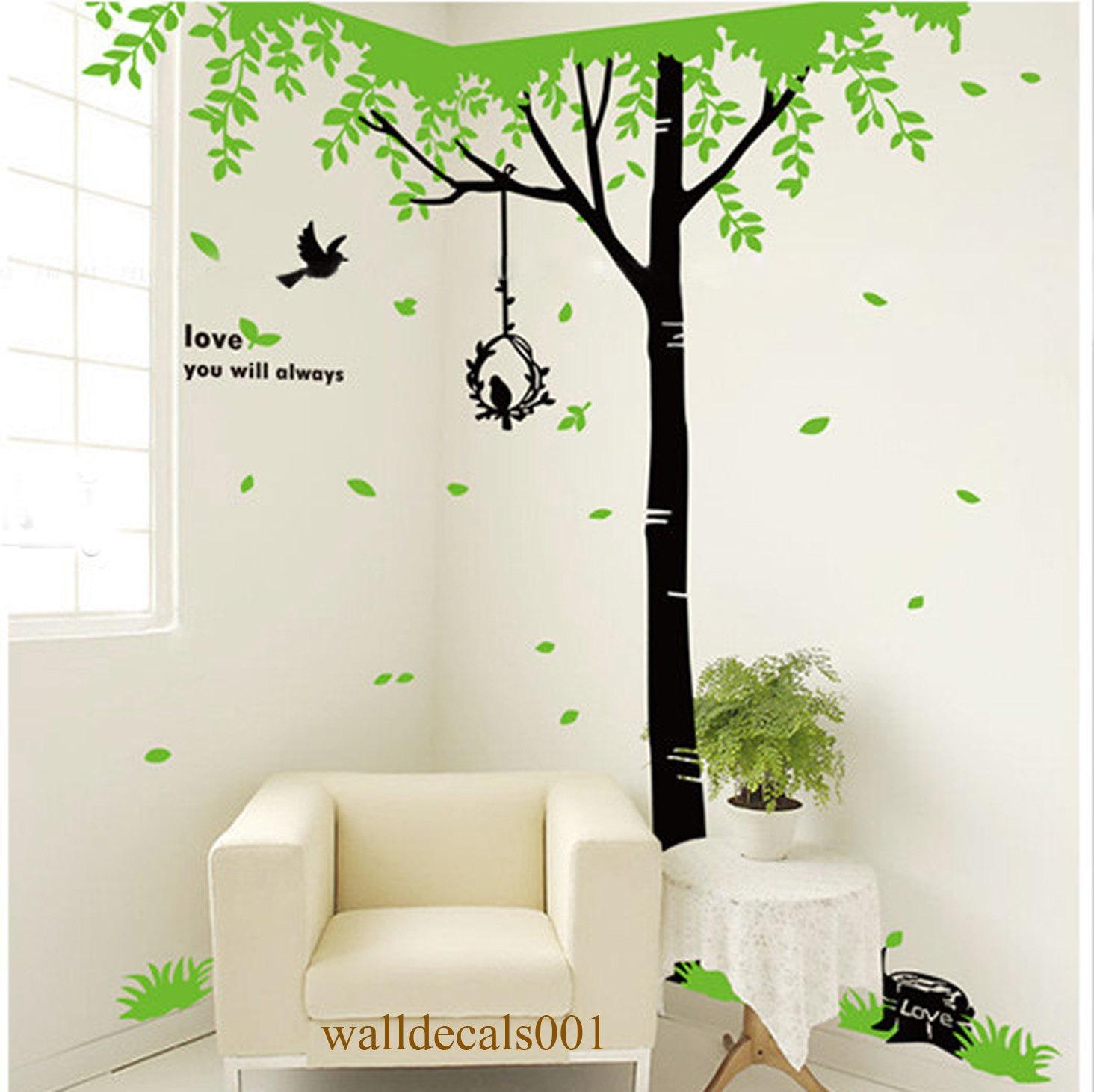 Bedroom wall art trees -  Zoom