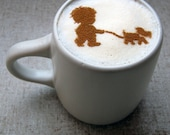 Coffee STENCIL - A Boy and His Dog