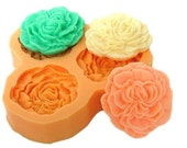 Miniature Mold Flower Flexible Silicone Mold Resin Mould  Polymer Clay molds