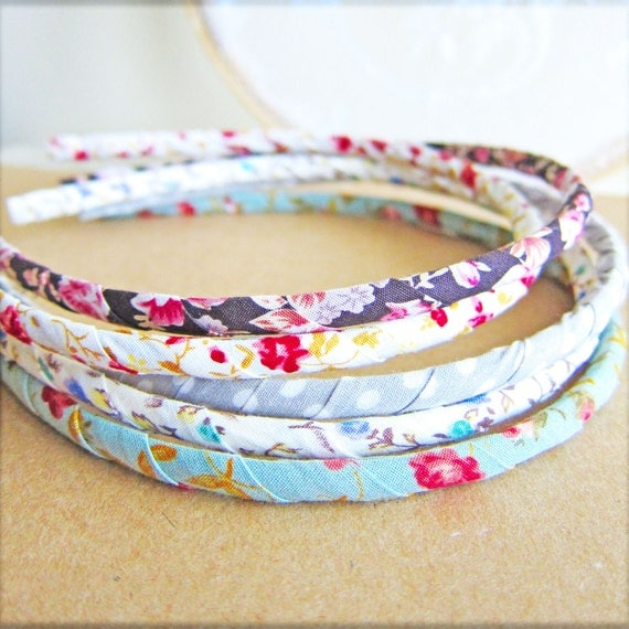 Shabby Chic Headband Fabric Hairband Vintage Floral Hairband Cloth Headband French Country Spring Summer Colorful Hairband - Choose 1