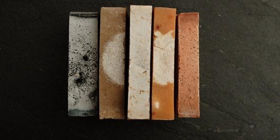SET OF 5 - organic and handmade soap