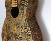 Gold Painted Guitar