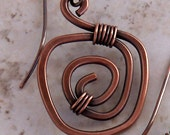 SPIRAL APPLE, Copper Earrings