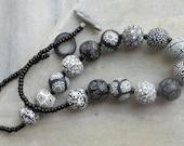 Thulo, Kalo, Seto...Big, Black and White - our Bold Bead Mala (necklace)