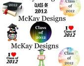 Class of 2012 1 inch Bottle Cap Digital Images