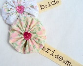Wedding Bride Corsage Personalised Brooch Pin Guests Favour Gift