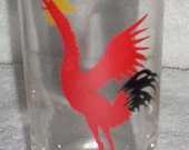 One  1960's Federal Glass Crowing Rooster 7 oz tumbler