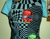 Head Trip Black Funky  phychedelic skull vest