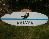 18 inch Surfboard Hawaiian Shark Wall Art Decor