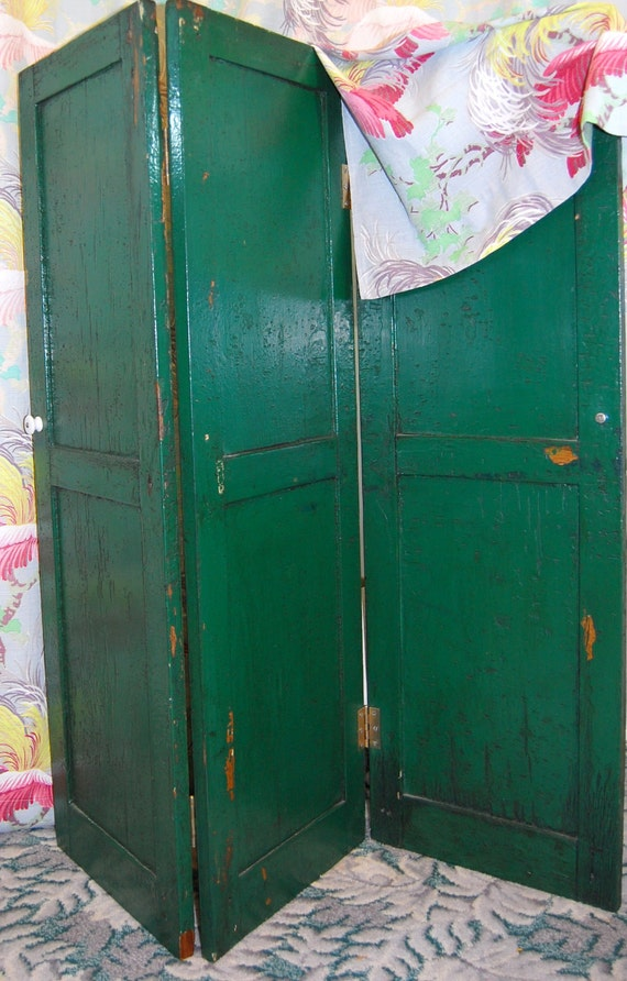 Painted Wooden Room Divider