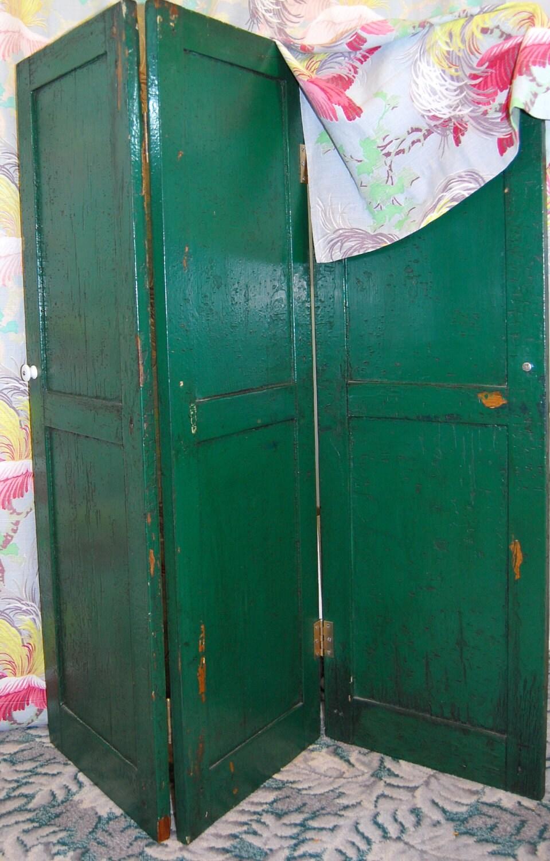 Vintage Wooden Screen Room Divider