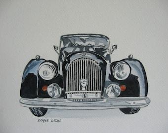 Morgan Car PRINT of ORIGINAL Watercolor PAINTING