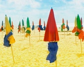 Beach Umbrellas Beach Photo, Beach Photography, Beach Wall Art, Colorful Umbrellas Art Print