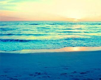 Ocean Photography, Sunset Photography, Retro Beach Photography, Ocean Photo, California Art