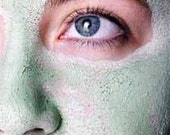 Clay Face  Mask PACK of  WOLVES mint  dead sea mud and green  french clay Spot Treatment Normal to oily skin type