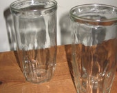 Scallop Trimmed Jelly Jar Glasses - Large (set of 4)