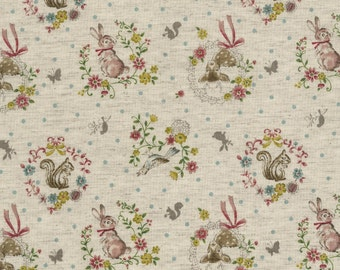 Japanese Cotton Fabric - Forest Friends - Half Yard