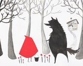 Little Red Riding Hood 5 x 7 Archival Art Print