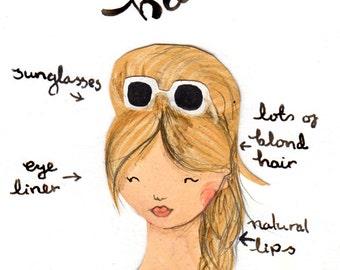 Style Icon Brigitte Bardot A5 Archival Art Print