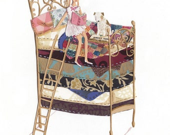 Princess and the Pea A4 Archival Art Print