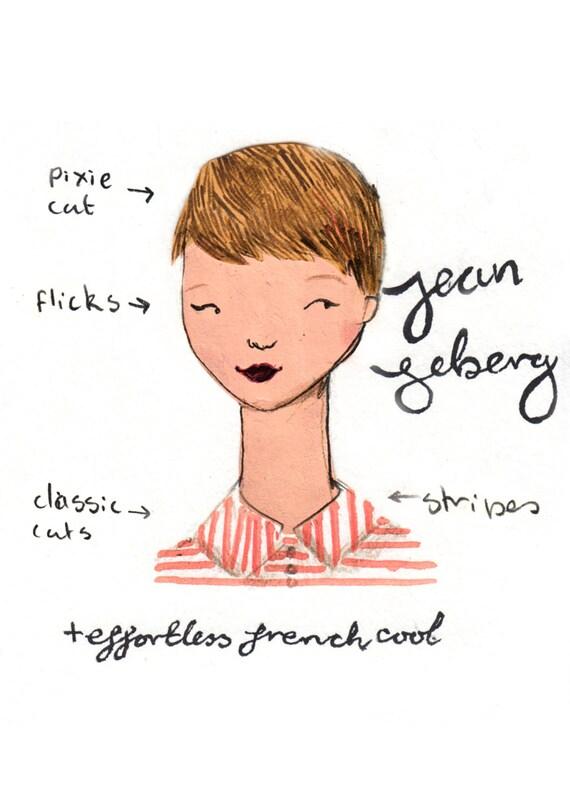 Style Icon Jean Seberg A5 Art Print