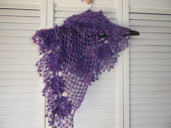 Lace Crocheted Shawl