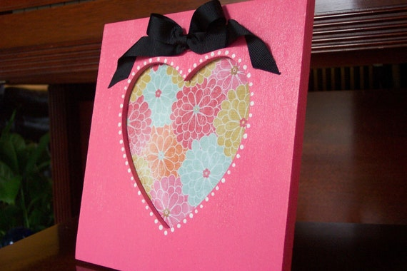 Sweet Nothings Pink Heart Shaped Frame