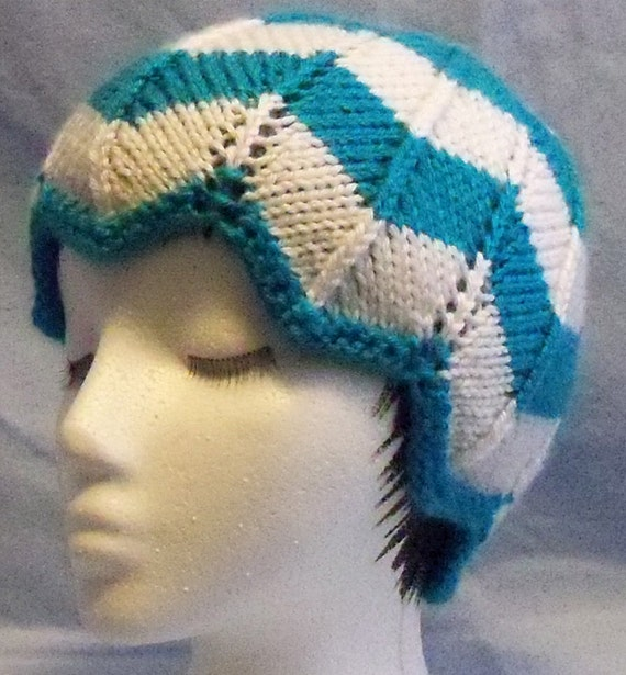 Chevron Knitting Pattern In The Round : KNITTING PATTERN Brianns Knitted Chevron Hat by HooksnNeedle