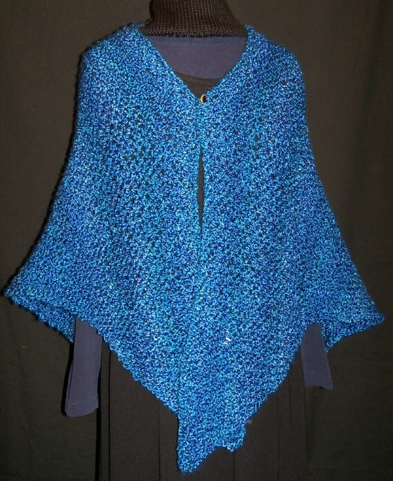 Knitting Patterns For Triangular Shawls : KNITTING PATTERN Melissas Triangular Shawl PDF instant