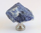 Natural Denim Blue Sodalite Crystal Gemstone Rock Knobs