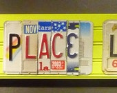 There's No Place Like HOME recycled art piece made with license plate letters