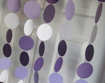Paper Garland, Purple Garland, Purple Ombre, Baby Shower Decorations, Plum Garland, Wedding, Showers