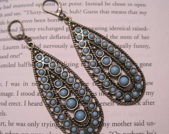 Turquoise Blue Teardrop Earrings