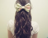 Beige Floral Hair Bow Out of stock
