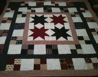 Original Design Patriotic Patchwork Quilt