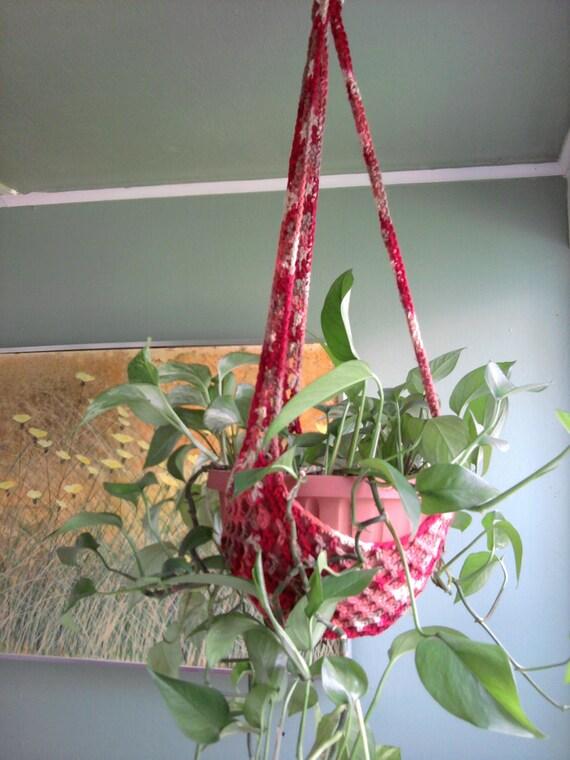 Plant Hanger/Bird Feeder Indoor Outdoor Crochet - Sedona or Any Color ...