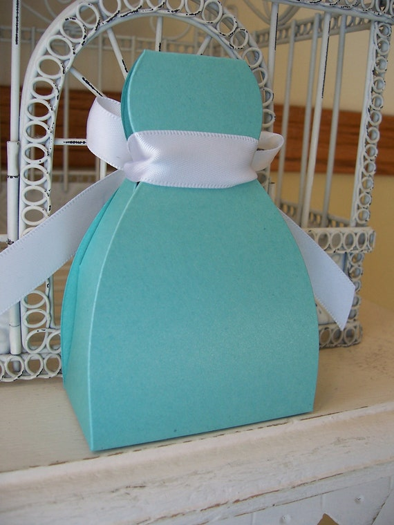 Wedding Favor --Customizable Dress Box - Many Colors Available Including  Hot Pink and  Lavender