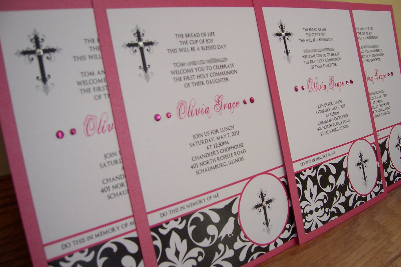 Elegant First Communion Invitations with great invitations design