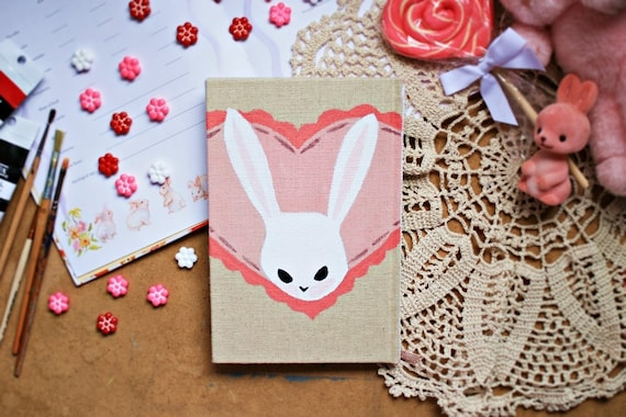 Hand-Painted Rabbit Writing Book