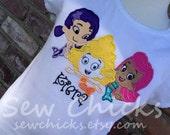 Custom Bubble Guppies Girls or Boys Shirt Trio