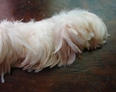 3 inch strip of lovely, ethereal white feathers great for weddings feather earrings etc