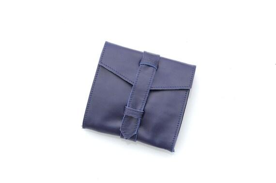 Blue leather purse- Women wallets