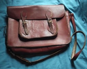 1950's Leather School Satchel