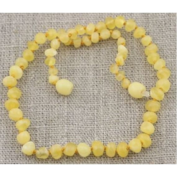 Adult BUTTER Baltic Amber Necklace - Rare butter color: Highly effective, most therapeutic amber